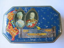 HARROW URBAN DISTRICT COUNCIL ISSUED COLOURFUL 1935 SILVER JUBILEE TOFFEE TIN