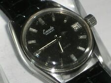 VINTAGE SWISS MEN'S EXACTA INCABLOC AUTOMATIC DAY WATCH 1970s MECHANICAL WORKING