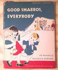 Maurice Sendak, GOOD SHABBOS EVERYBODY, 1951, 1st Ed, Scarce