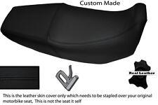 BLACK STITCH CUSTOM FITS HONDA XR 125 03-12 DUAL LEATHER SEAT COVER