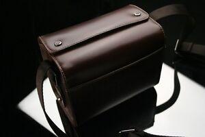 GARIZ Leather Camera Bag Brown for Sony NEX CB-LZSS Small Size