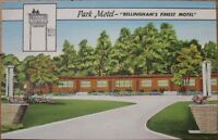 1950 Linen Postcard: 'Park Motel - Bellingham, Washington WA'