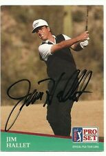 PGA Jim Hallet Signed Auto 1991 Pro Set Card #116  Bryant  TOUGH  C