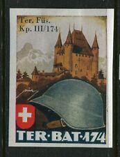 Switzerland Soldier Stamp Territorial Troops #346/2  Schweiz Soldatenmarken   10