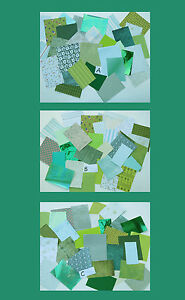 Craft Paper and Card pack, Green, 30 pieces. Good value !