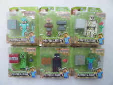 "Minecraft 3"" Figure Diamond Steve Golem Zombie Creeper Spider Villager Enderman"