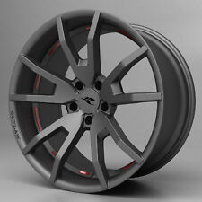 "2015 2016 2017 Mustang CDC Outlaw Wheel Set Staggered Gunsmoke 20"" Flow Forged"