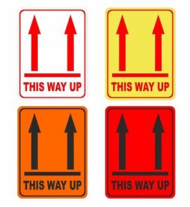 18 > 576 This Way UP Labels For Post / Courier Box Choice of Colour 95mm x 70mm