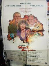 Vintage 'When Time Ran Out' Movie Poster *circa 1980* RARE