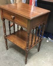 NICE VINTAGE Spindle Side NIGHTSTAND   with drawer