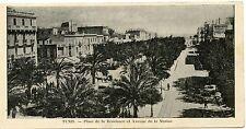 CARTE POSTALE / POSTCARD / TUNISIE TUNIS PLACE DE LA RESIDENCE Av. DE LA MARINE