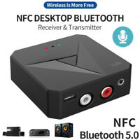 Bluetooth 5.0 Adapter Dongle AUX RCA Audio Receiver Transmitter with NFC