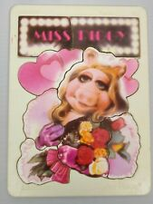 Fisher Price 1981 Muppets Miss Piggy Flowers VTG Tough Finish Puzzle #542 NOS