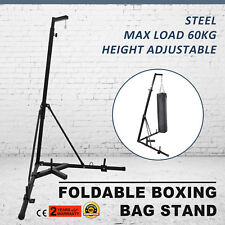 Dual Station Heavy Duty Boxing Punch Bag Stand Thai Kick Martial Arts
