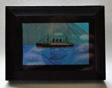Anchor Line R.M.S. Transylvania framed butterfly wing picture