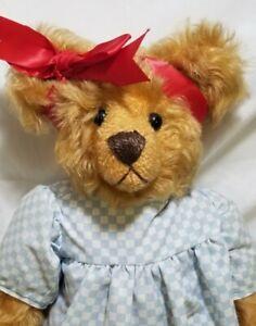 """Donna Bobby """"Alice"""" artist teddy bear mohair 14"""""""