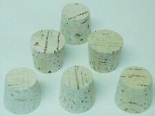6 Tapered corks # 19 made from 1 piece of natural cork