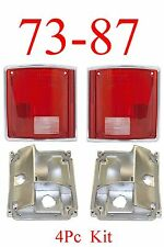 73 87 91 Chevy 4PC Tail Light Kit W/ Bases, Truck, GMC, Suburban, Blazer, Jimmy
