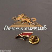 Pin's Folies *** Demons et Merveilles Automobile Citroen Sport Doré non signé