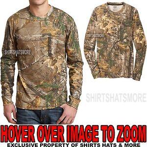 Russell Mens REALTREE XTRA Camo LONG SLEEVE T-Shirt w/ POCKET S-XL 2XL, 3XL NEW
