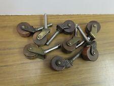 Vintage #4 Wooden Wheels Caster for Furniture Quantity 8
