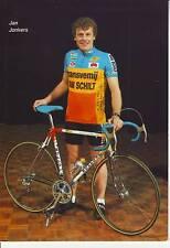 CYCLISME carte cycliste JAN JONKERS équipe TRANSVEMIJ - VANSCHILT 1987