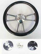 "1964-66 Chevy II 2 Nova Impala Carbon Fiber and Billet Steering Wheel 14"" SS Cap"