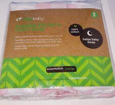Baby Swaddle Blanket Wrap Set (3 Pk) Pink Peony, Pink Heart, Pink Buffalo plaid