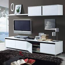 Amalia TV Unit Living Room Furniture Set Modular Media Wall White Melamine