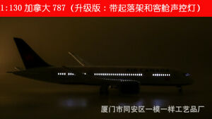 43cm 1/130 Air Canada B787 Passanger Plane Toy Aircrat LED Voice Lamp Display To