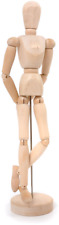 MANNEQUIN en bois ARTICULE POUR DESSIN CROQUIS Haut.20 cm