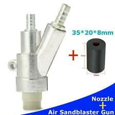 1PC Silver Stainless Steel Air Gun Kit Spray Gun + 35mm Boron Carbide nozzle Kit