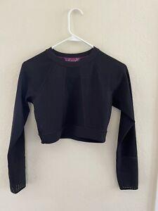 Lululemon Cropped Long Sleeve Top Mesh Activewear Shirt 6 S/M  Reversible