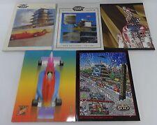 Set 5 Indy 500 Program 2000 2004 Montoya Castroneves Ferran Rice Penske Ganassi