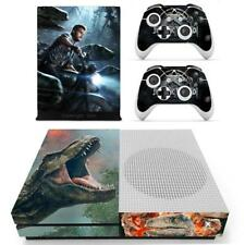 Xbox one S Slim Console Skin Set Jurassic World Vinyl Stickers Decal Covers Wrap