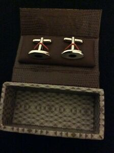Men's  stainless steal cuff links. C0301120