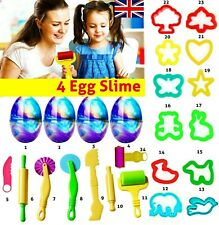 24 X Kids Play Dough Tools Set Modelling Craft Mould Mold Toy Cutters Egg Slime