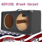2X12 Guitar Speaker Extension Empty Cabinet Black carpete finish G212SL-BCP