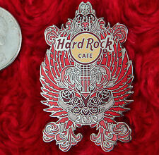 Hard Rock Cafe Pin ONLINE Valentines Day GUITAR LE 100 rose flower angel heart