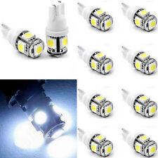 10X T10 5050 W5W 5 SMD 194 168 12V LED White Car Side Wedge Tail Light Lamp Bulb