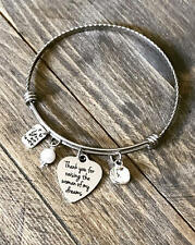 Thank You for Raising the Woman of My Dreams Mothers Day Heart Charm Bracelet