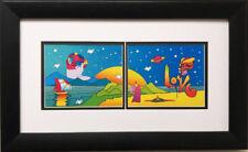 "Peter Max ""Love Panorama"" Newly CUSTOM FRAMED Print Art POP"
