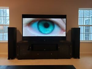 "Sharp Aquos 80"" TV LC-80LE650U, Polk RTi A9, Onkyo TX-SR805, Monster HTPS 7000"
