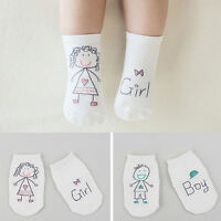 FP- ALS_ NewBorn Baby Boy Girl Cartoon Cotton Socks Infant Toddler Anti-Slip Soc