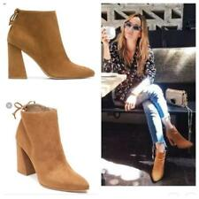 $570 NEW Stuart Weitzman Grandiose Suede Leather Pointed Toe Ankle Boot Bootie 8