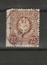 "Germany 1875 Definitives - Value in ""PFENNIGE""  25pf used"