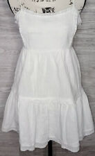 Kendall & Kylie Pacsun Women's White Sundress Eyelet Trim Dress Size Large  NEW!