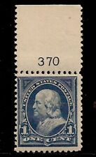 #264 Mint, F/Vf-Og-Nh, 1c 'Franklin' Plate #370 Perf. 12 Watermarked Issue 1895.