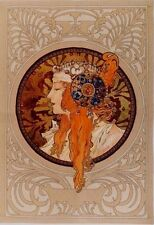 """NEW ALPHONSE MUCHA BYZANTINE BLONDE FULLY LINED 37"""" TAPESTRY WALL HANGING 6007"""