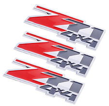x2 New Red Black /& Chrome Z71 4x4 Emblem Badge Decal Replaces OEM 10362941